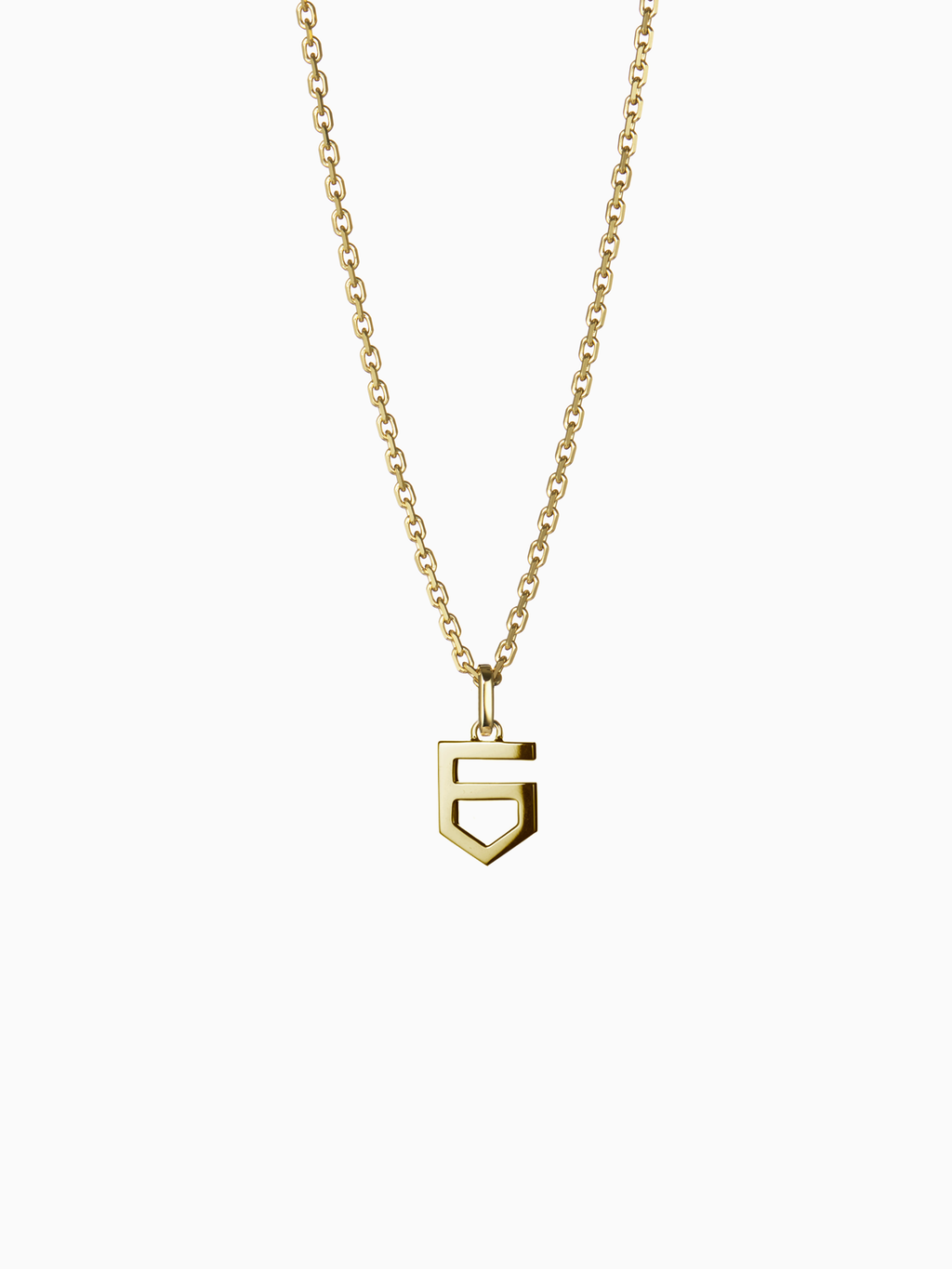 NUMERAL 6 | PENDANT | GOLD