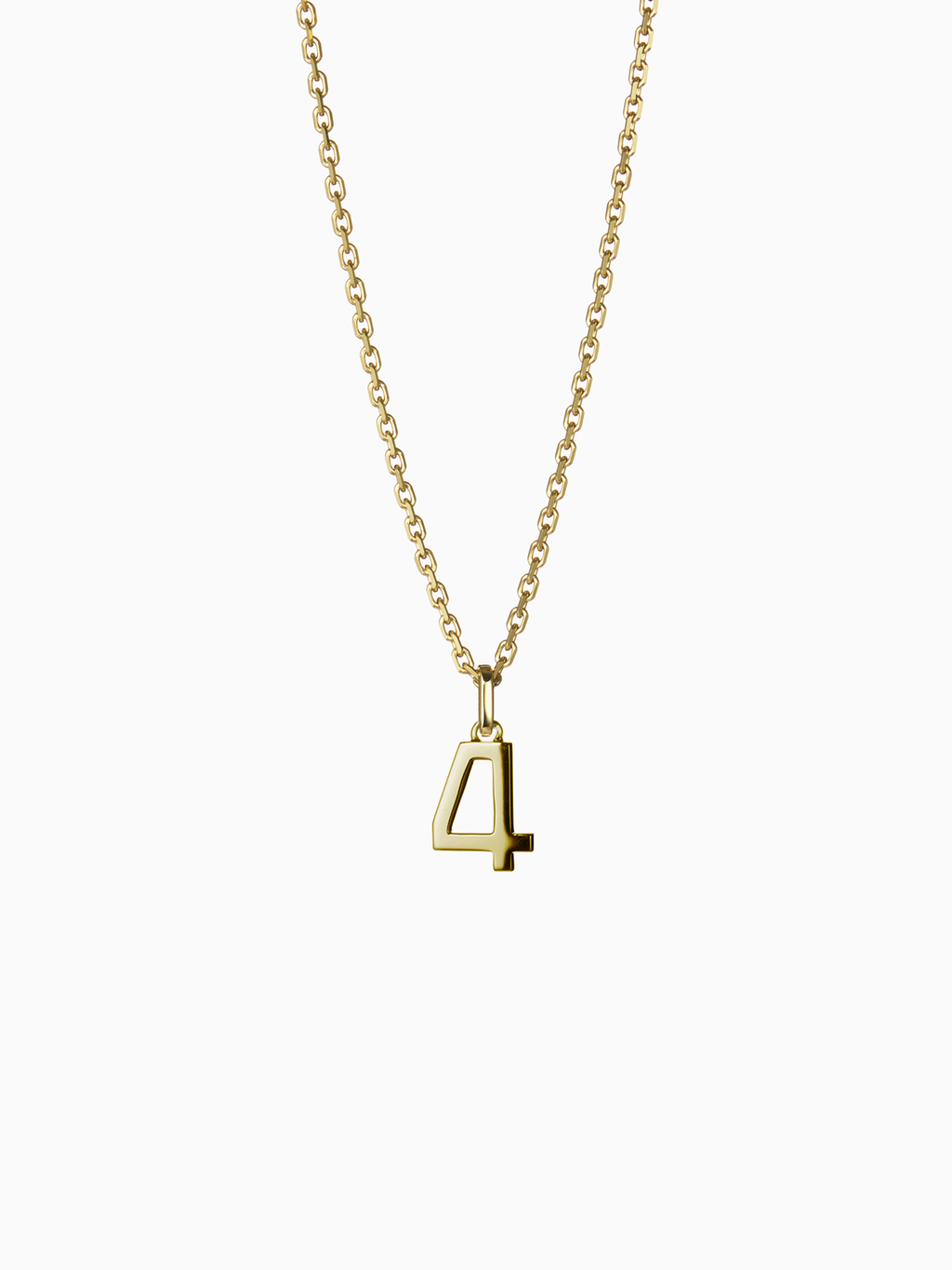 NUMERAL 4 | PENDANT | GOLD