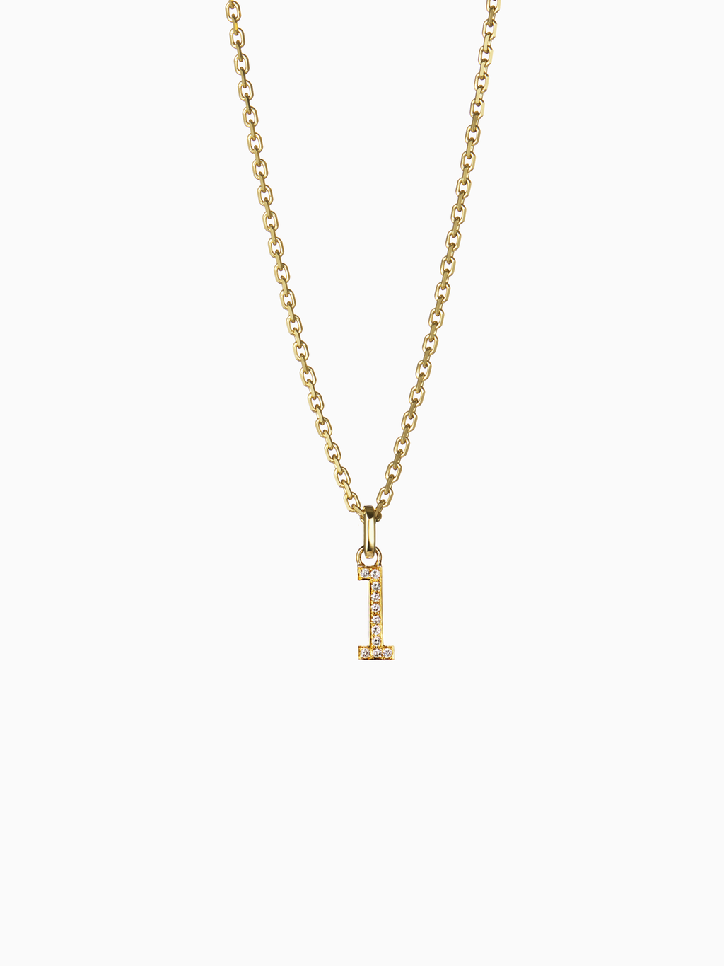 NUMERAL 1 | PENDANT | DIAMOND | GOLD