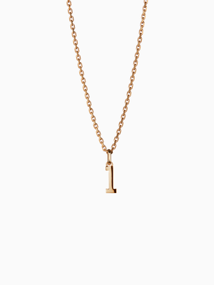 NUMERAL 1 | PENDANT | GOLD