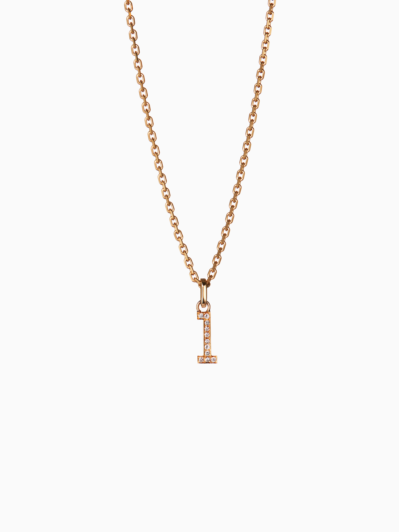 Numeral.1 M/ Pendant / Diamond / Gold
