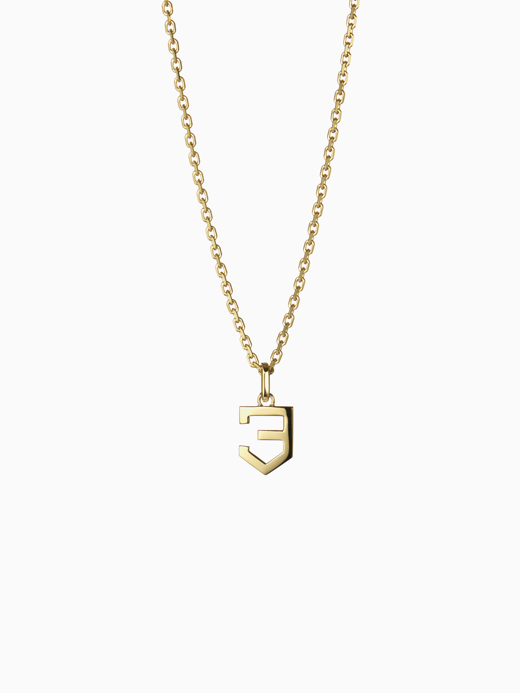 NUMERAL 3 | PENDANT | GOLD