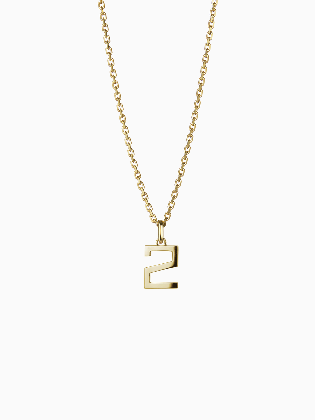 NUMERAL 2 | PENDANT | GOLD