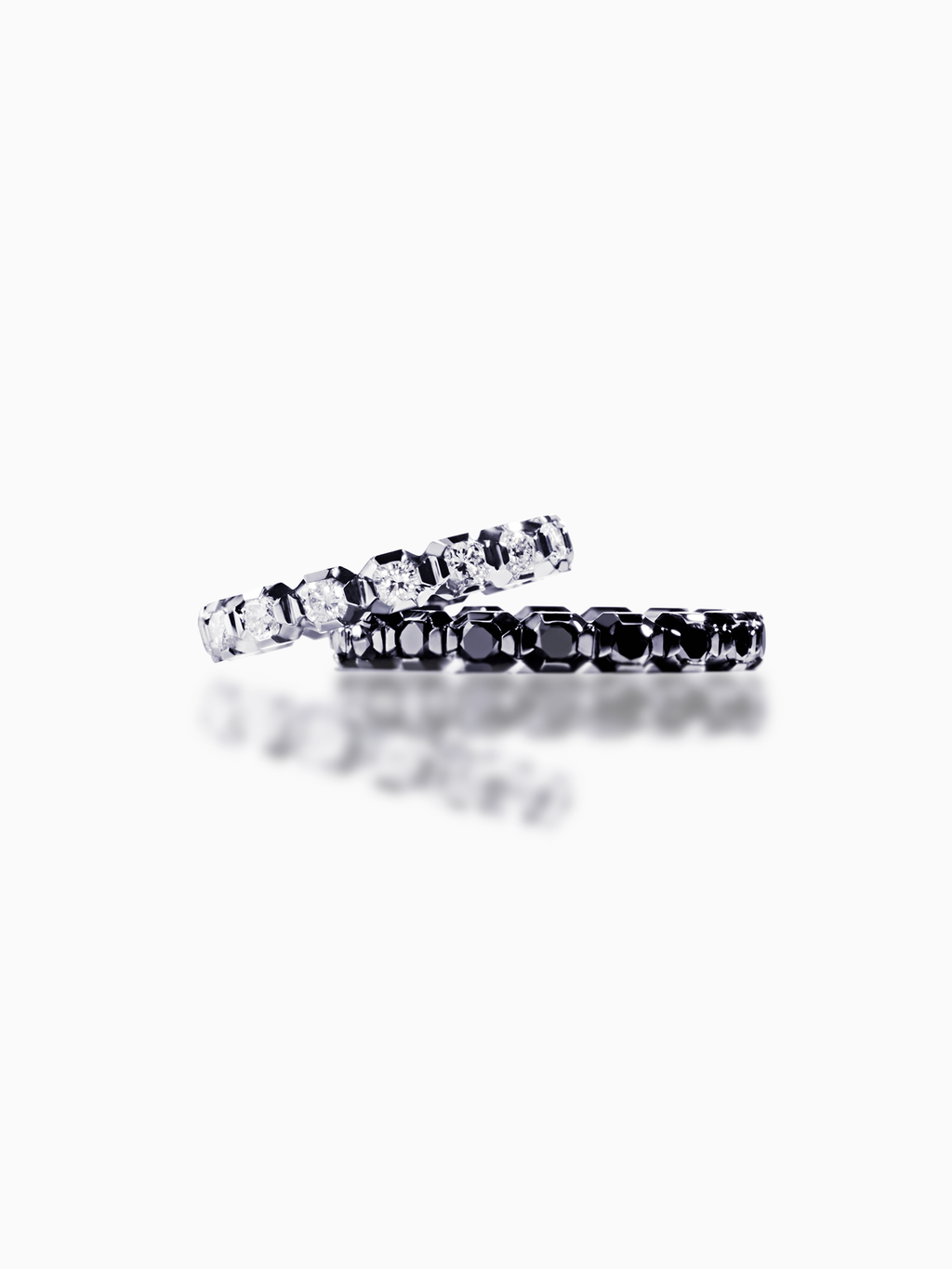 Maia / Pair Ring / Black Diamond