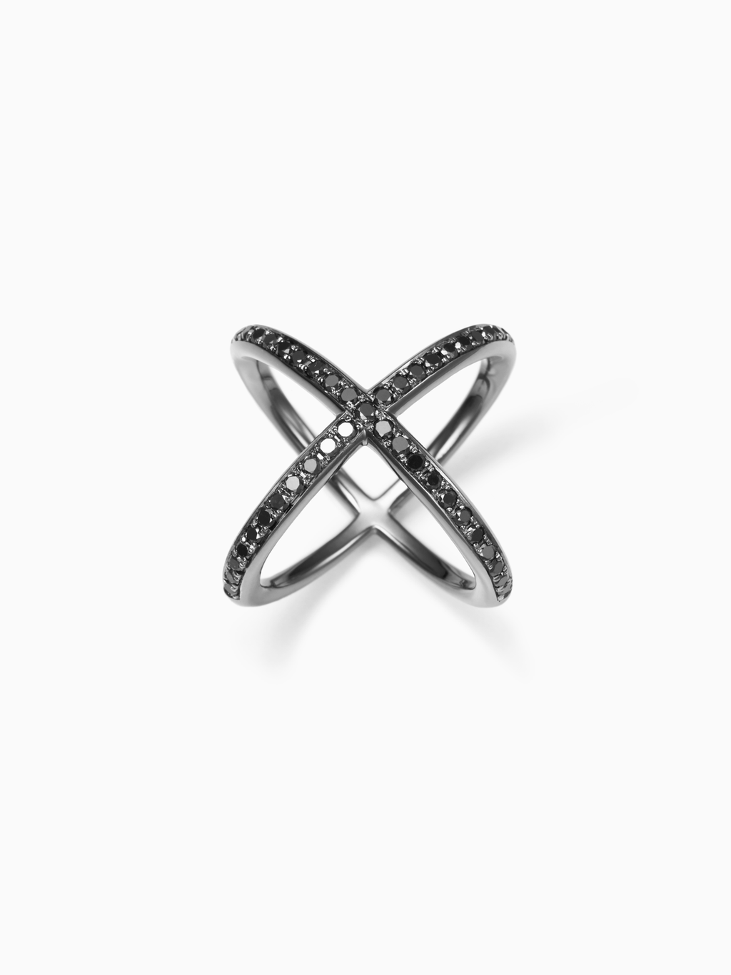 Mobius S / Phalange Ring / Diamond / Silver