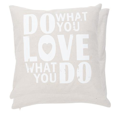 Federa Cuscino Do What You Love Clayre & Eef segni-particolari-home Cuscini Decoro