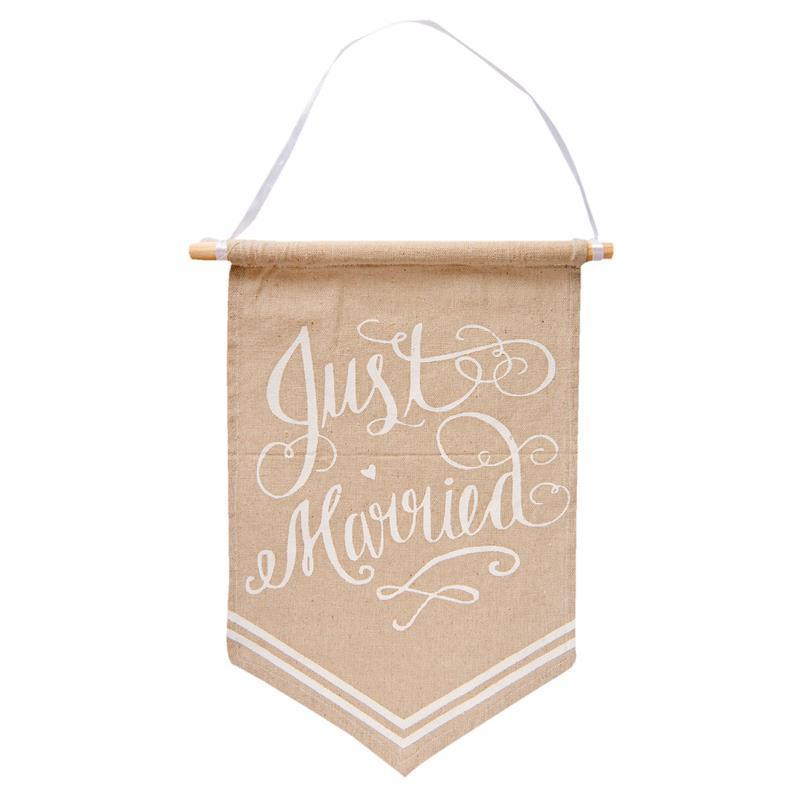 Quadro Tessuto Just Married Clayre & Eef segni-particolari-home Quadri