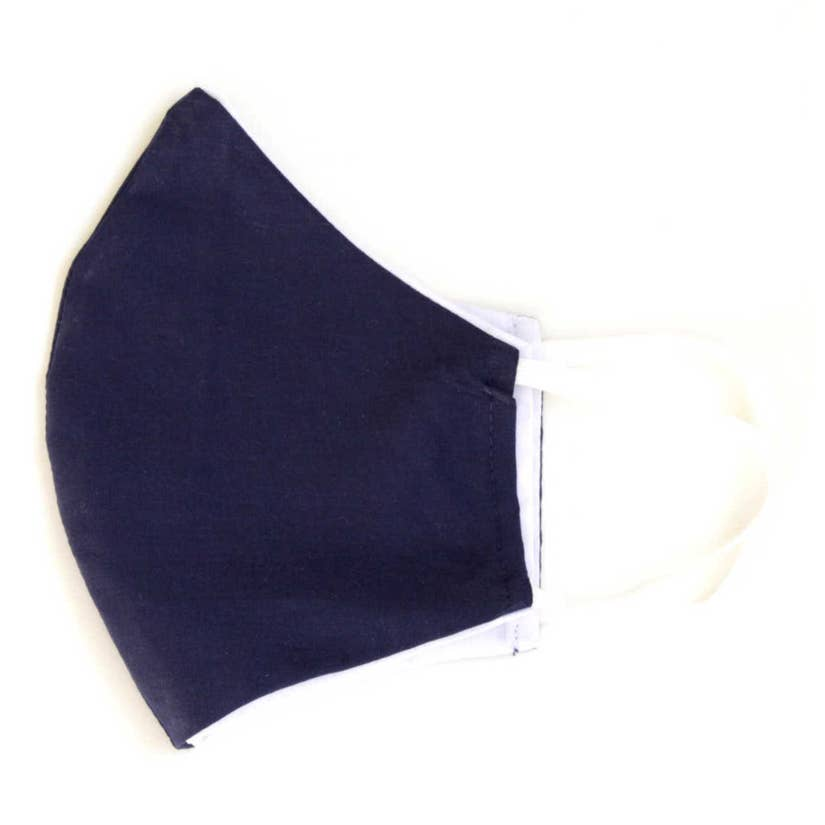 Solid Color Cotton Face Mask with Filter Pocket