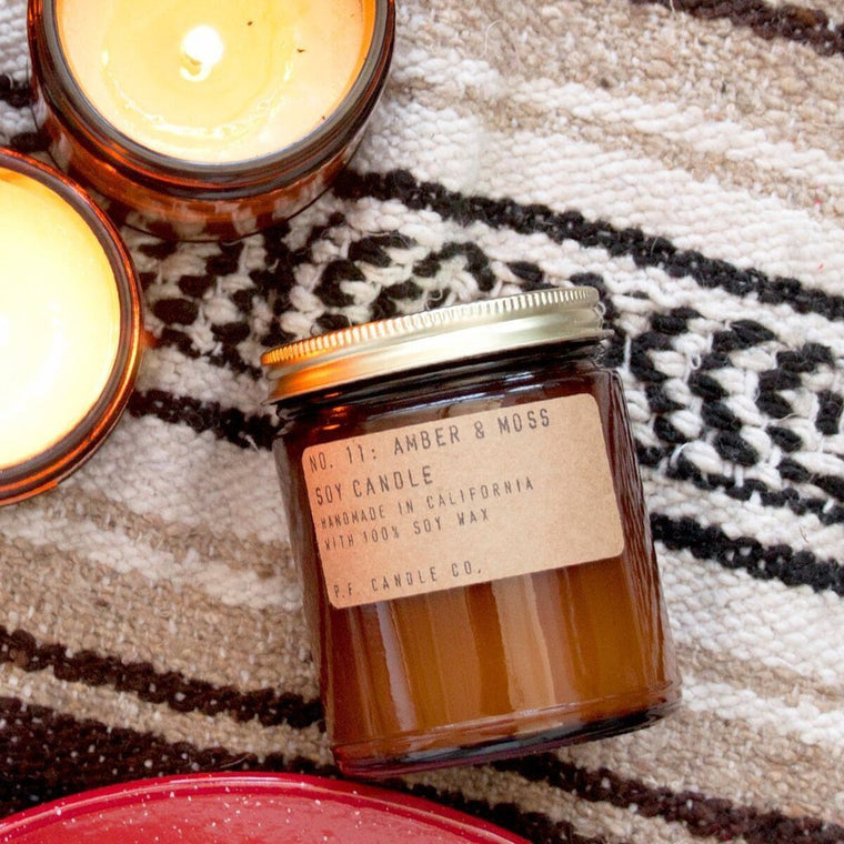 Amber & Moss Soy Candle 7.2oz