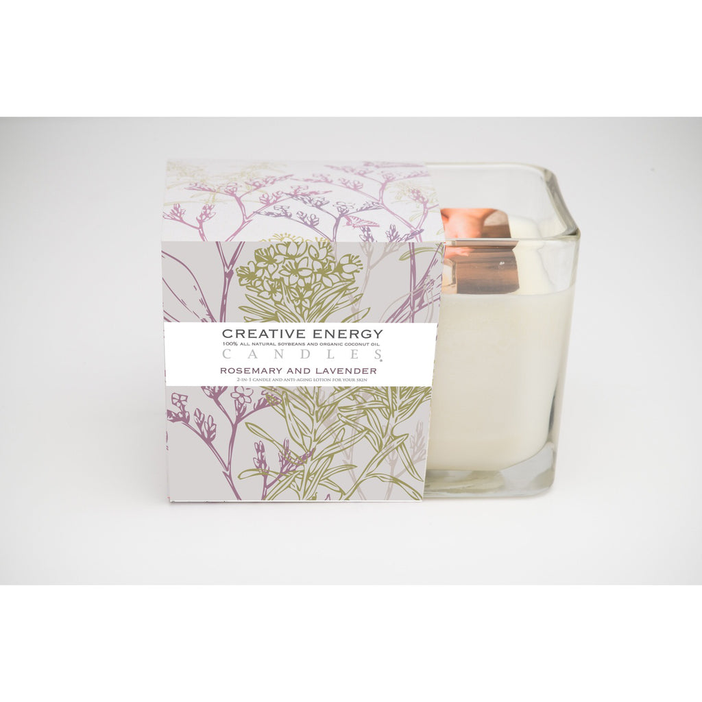 Rosemary & Lavender 7oz. 2 in 1 Soy Lotion Candle