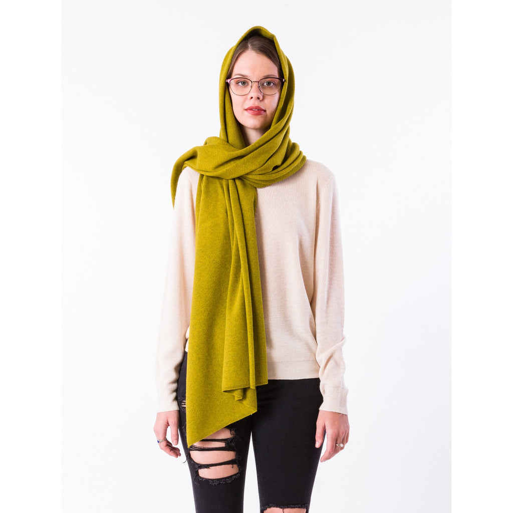 Bentley Wrap/Scarf -Chartreuse