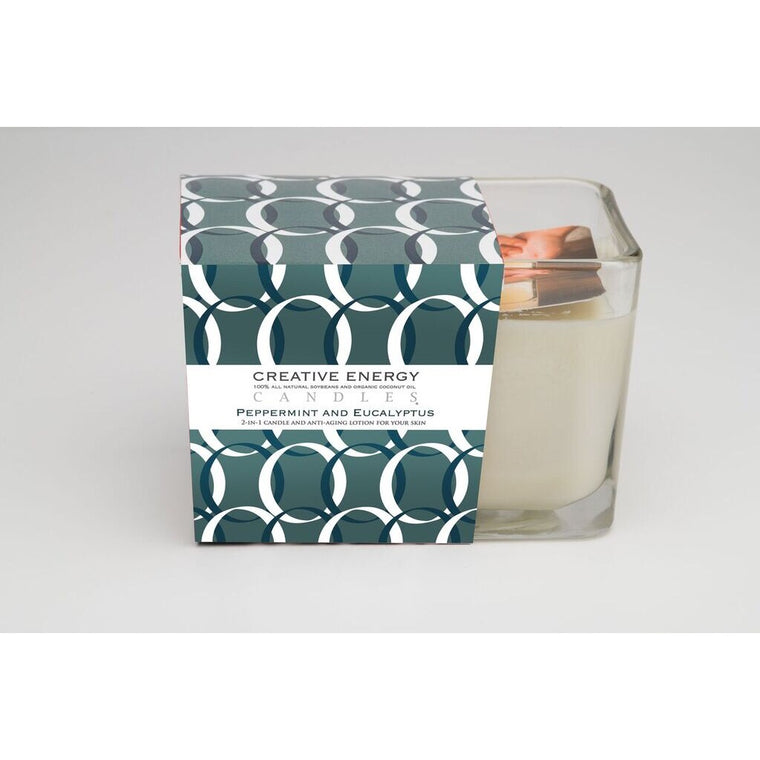 Peppermint & Eucalyptus Soy  Lotion Candle 7oz