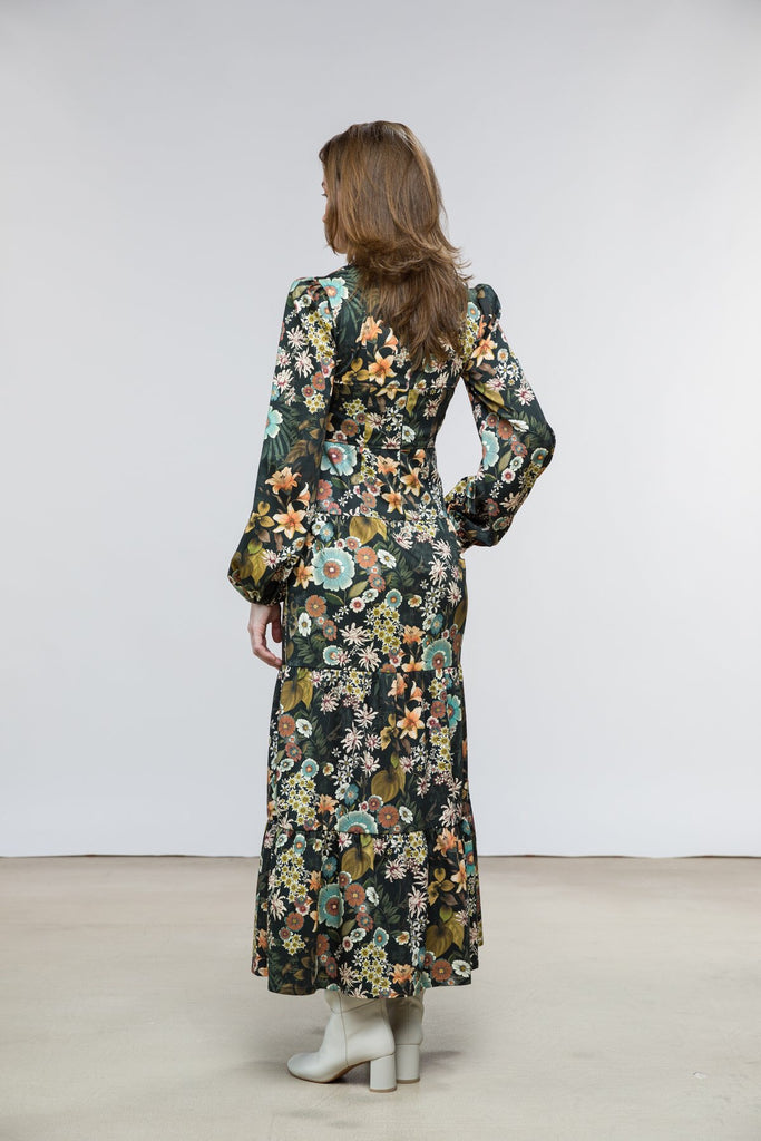 Green Floral Ann Dress
