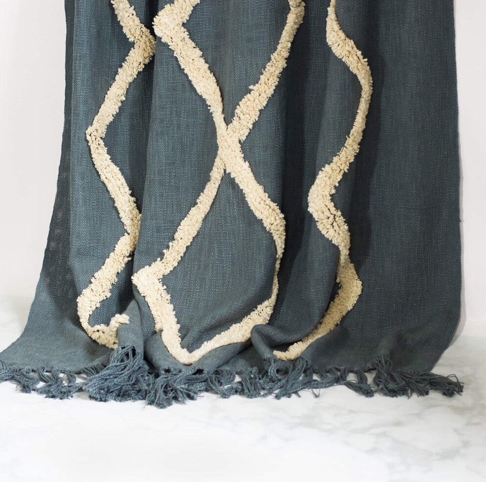 Modern Tribal Tufted Cotton Throw