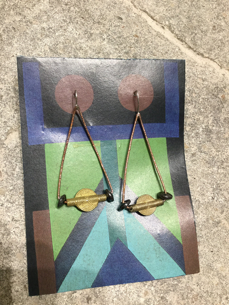 Handmade Copper Swing Earring