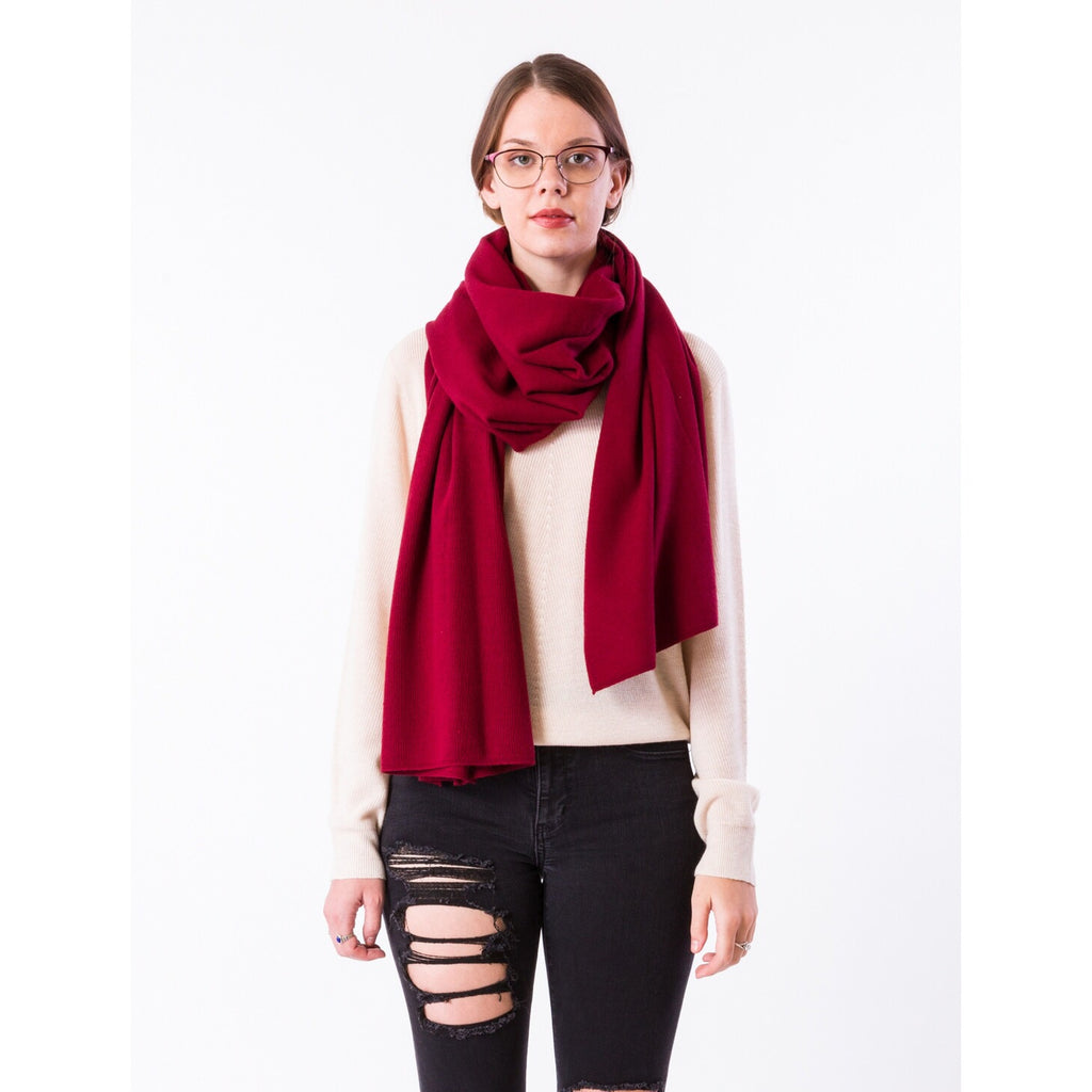 Bentley Wrap/Scarf-Cherry Red