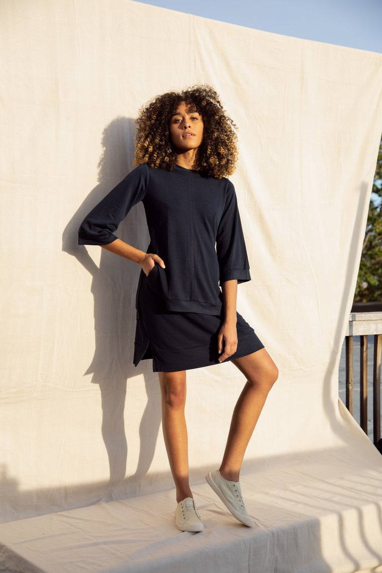 Ruth Top - Navy Blue