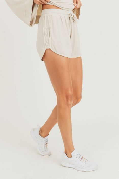 Natural French Terry Lounge Shorts