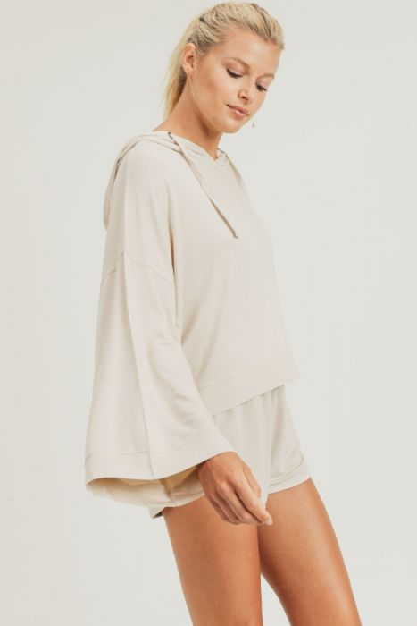 Natural French Terry Oversized Pullover