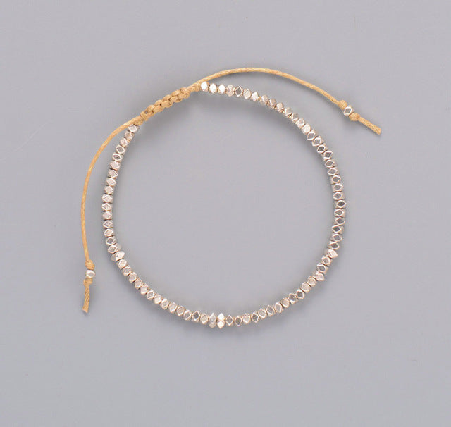 Simple Friendship Bracelets With Silver Beads
