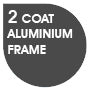 Double Coat Aluminium Frame