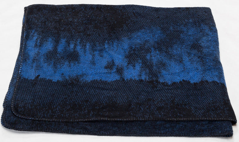 SAVONA Cotton Velour Throw | Plaid | Blue | 150 x 200 cm