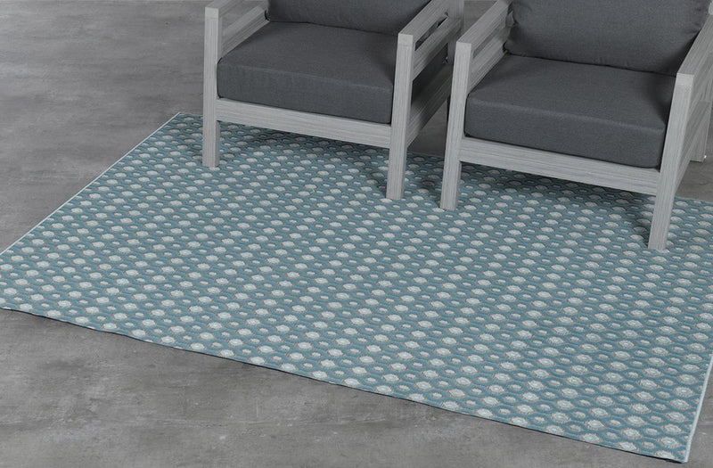 Eclips Outdoor Rug  | Turquoise