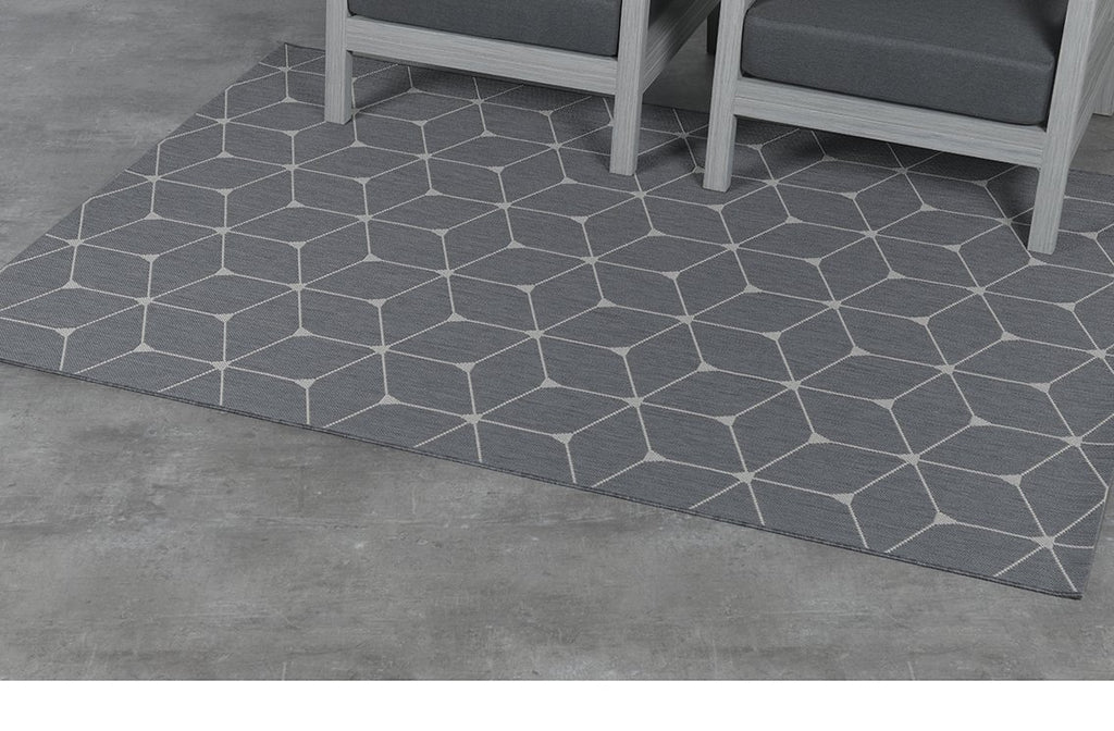 Danish Diamonds Outdoor Rug  | Grey