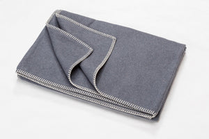 SYLT Cotton Flannel Throw | Grey | 140 x 200 cm
