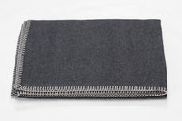 SYLT Cotton Flannel Throw | Anthracite | 140 x 200 cm