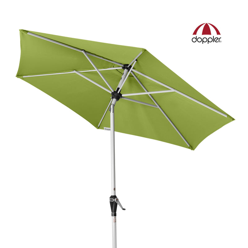 Doppler Outdoor Aluminium Umbrella (Parasol) with Centre Pole Auto-Tilt Mast and UV 50+ protective fabric