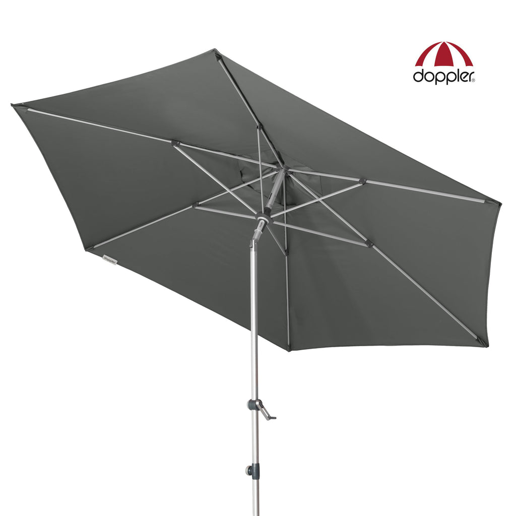 Doppler Outdoor Aluminium Umbrella (Parasol) with Centre Pole Auto-Tilt Mast and UV 80 protective fabric