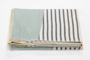 SYLT Cotton Flannel Throw | Glass Green | 140 x 200 cm