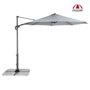 Cantilever Offset Outdoor Aluminium Umbrella (Parasol) with easy open crank and tilt and rotation functions