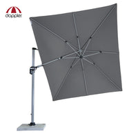 Cantilever Offset Outdoor Aluminium Umbrella (Parasol) with adjustable swivel canopy by Doppler