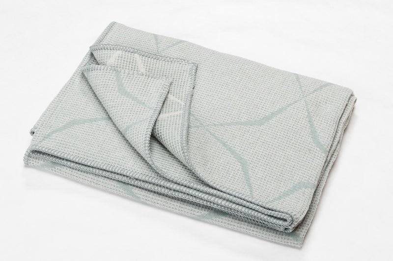 LIDO Cotton Honeycomb Throw | Glass Green | 140 x 200 cm