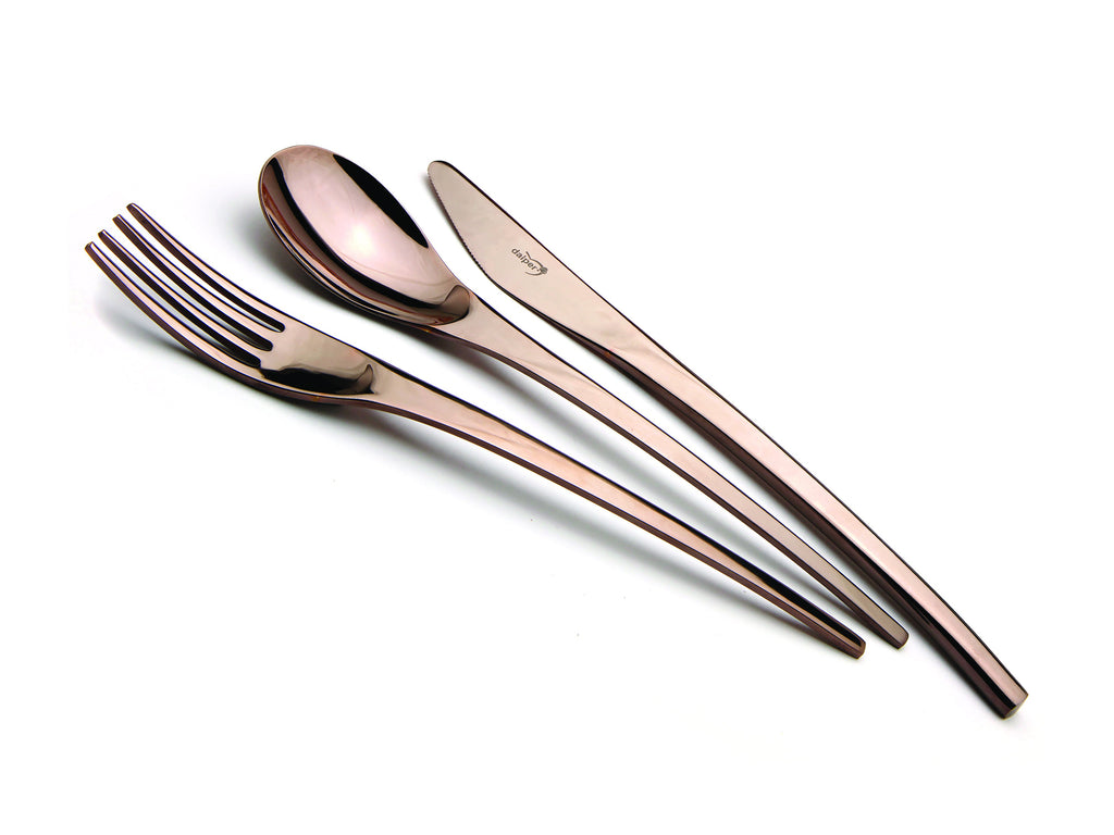 ARC 24 piece Cutlery Set - Shiny Chocolate