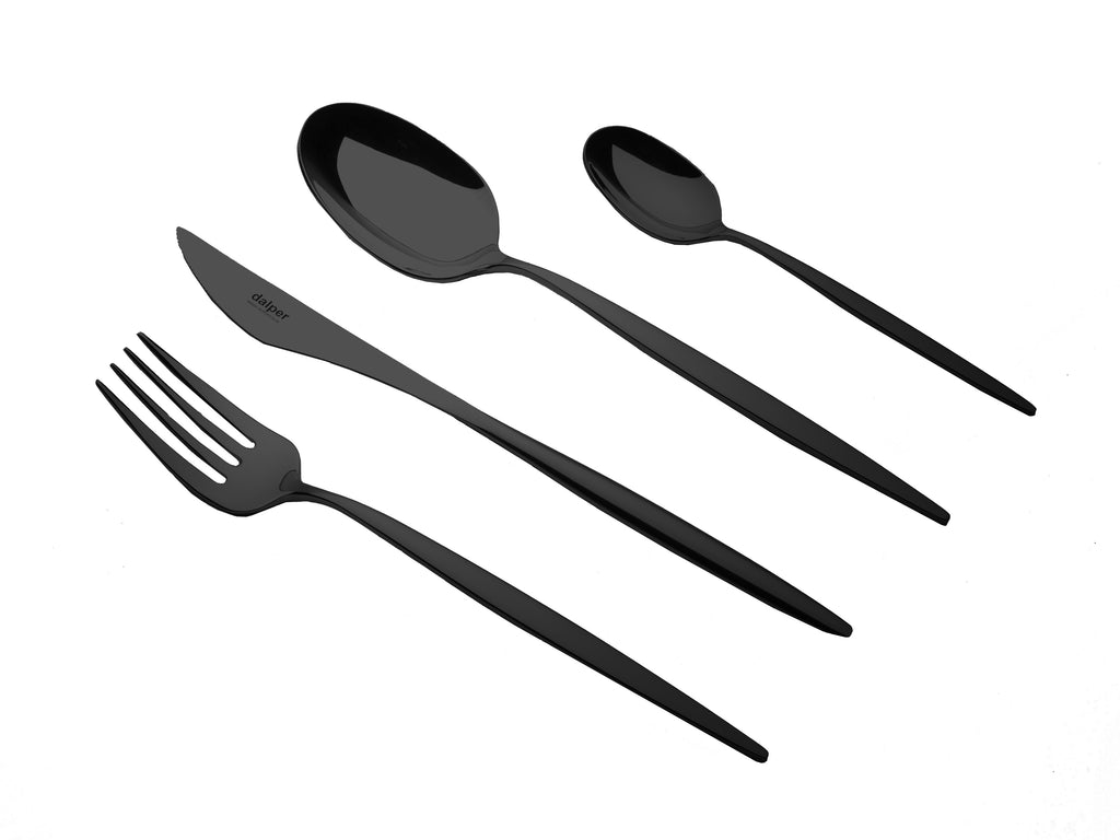 COSMOS 24 piece Cutlery Set - Matt Black