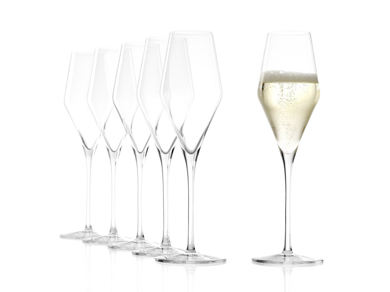 Stoelzle Quatrophil Champagne Glass Lead Free Crystal