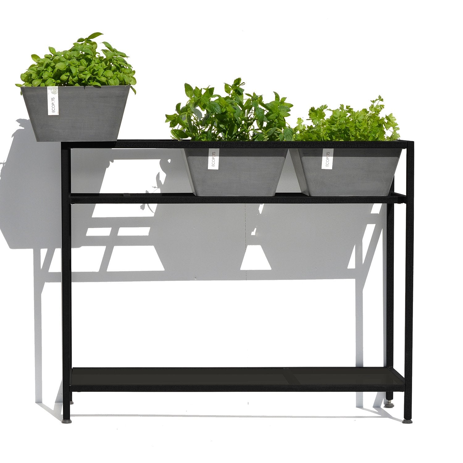 Ecopots Plant And Herb Table With 3 Planter Pots Made From