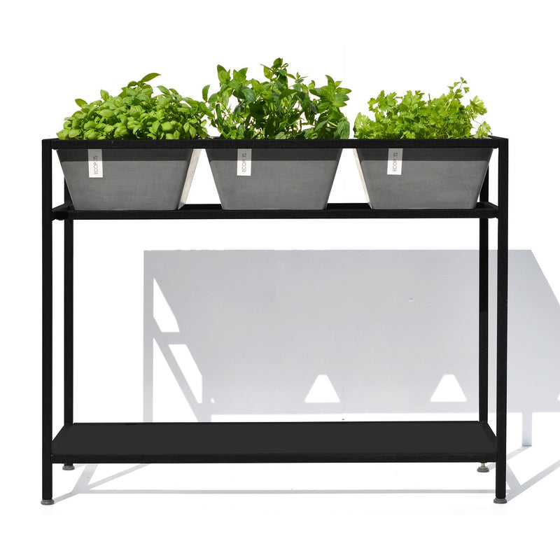 Ecopots Plant and Herb Table with 3 Planter Pots made from Recycled Plastic