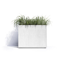 Roma Square Planter Pot with Wheels by Cosapots