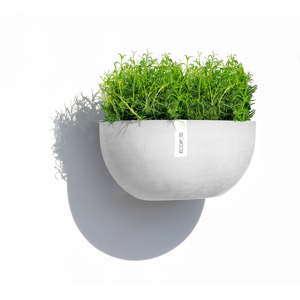 Ecopots Sofia Wall Hanging Planter Pot made from Recycled Plastic
