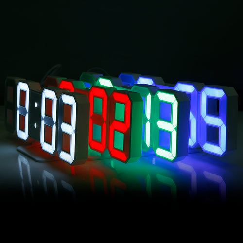 3D LED Digital Wall Clocks