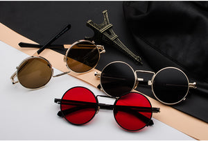 2018 Classic Round Steampunk Sunglasses (12 Colors Retro)