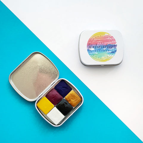 Primary Palette half-pan tin set (6 colours)