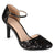 Womens Sequin Faux Leather Piping Mary Janes