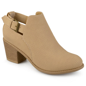 Womens Laser Dot Buckle Booties