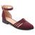 Womens Anette Faux Suede Ankle Wrap Braided Rope Flats
