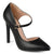 Womens Faux Leather Pointed Toe D'orsay Ankle Strap Heels